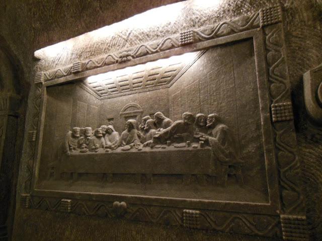 La Santa Cena esculpida en sal