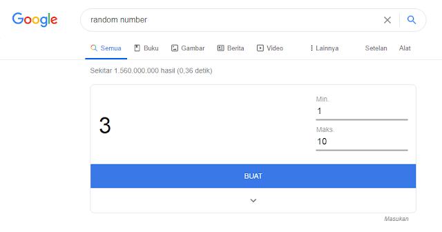 Fitur Pencarian Angka Acak di Google Search