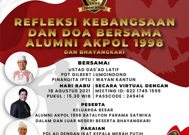 Alumni Akpol 1998 Gelar Refleksi Kebangsaan Wujudkan Nasionalisme