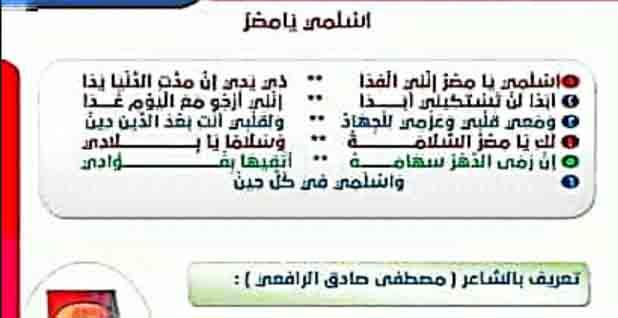 اقوى شرح لنشيد اسلمي يامصر للصف الرابع الابتدائي للفصل الدراسي الأول 2022 لمصطفى صادق