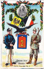 Gruss aus Stettin Pomm. Pion-Batl. No. 2