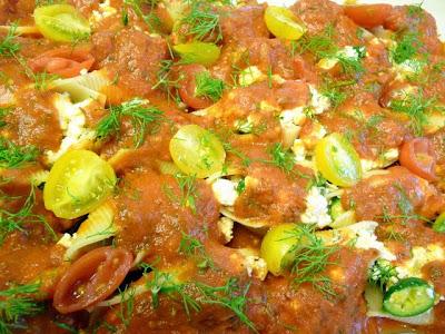 Fresh Ricotta, butternut squash, baby zucchini in Pasta Shells
