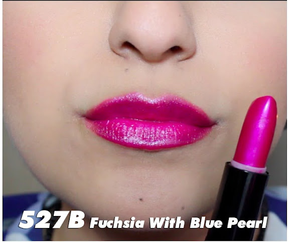 Màu Fuchsia with Blue Pearl - 527B - Son Wet n Wild Silk Finish Lipstick