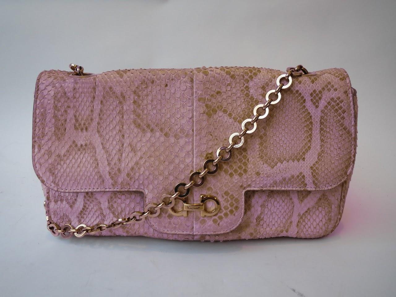 Salvatore Ferragamo Python Handbag