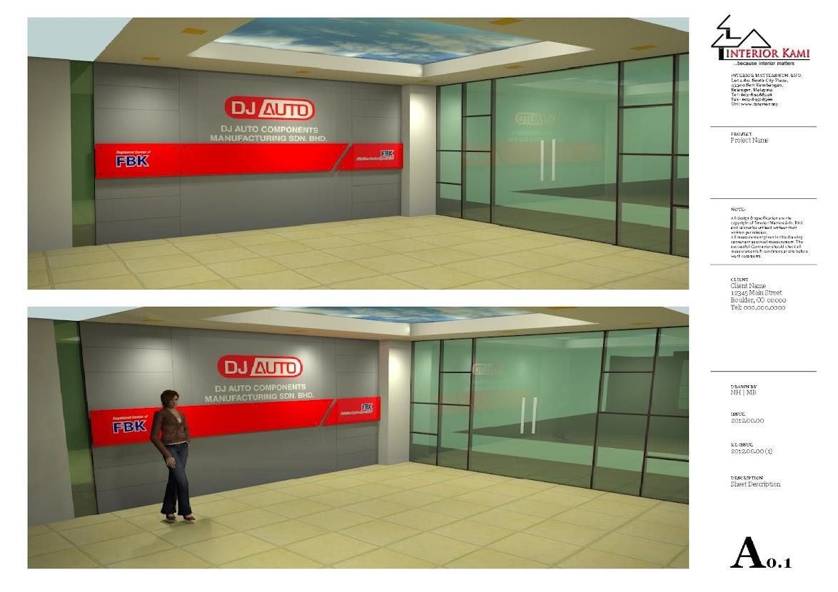 reception area design drawing