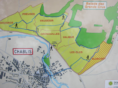 Chablis Grand Cru map