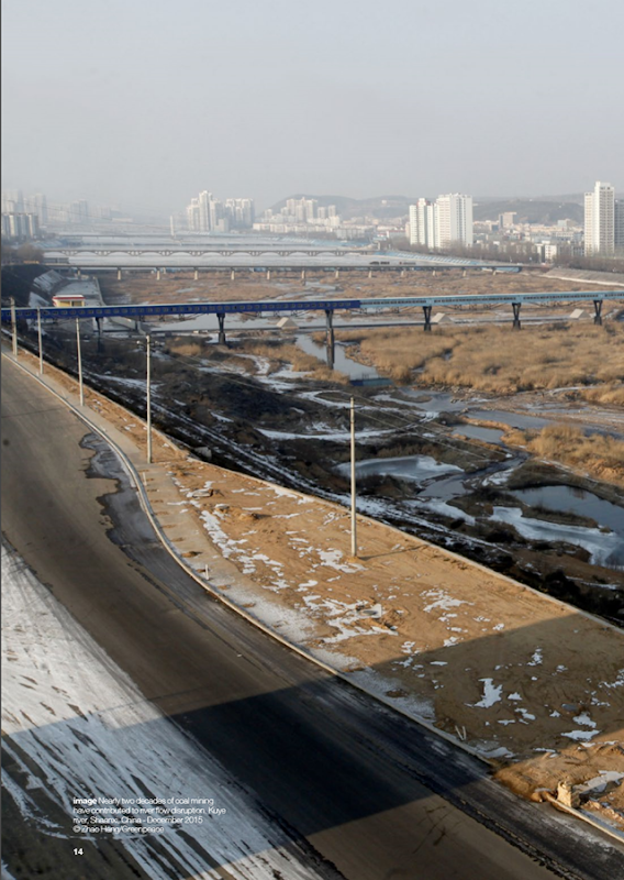 Nearly two decades of coal mining have contributed to river flow disruption in the Kuye river, Shaanxi, China, December 2015. Photo: Zhao Hang / Greenpeace