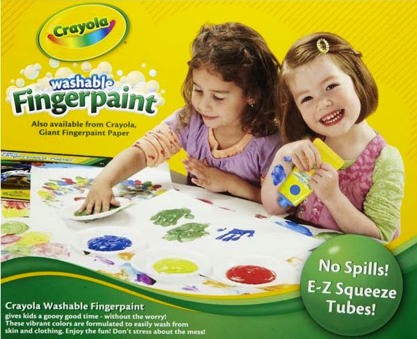 Bộ 4 màu vẽ bằng ngón tay Crayola Fingerpaints Bold Colors tuyệt đối an toàn