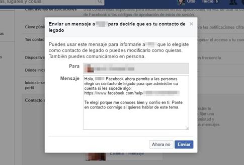 Cómo eleigr un contacto de legado en Facebook