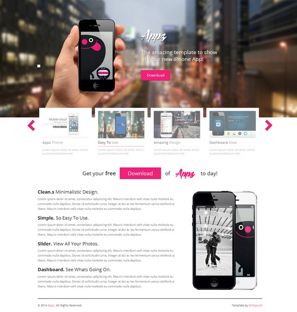 Appz Website Template