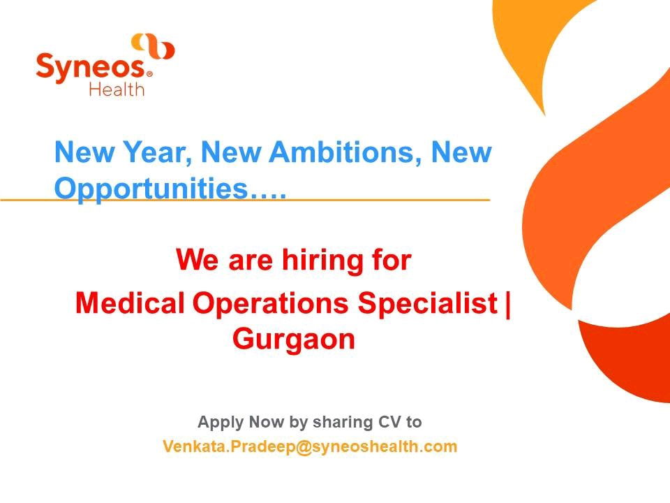 Urgently Opening at Syneos Health