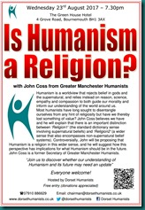 Is Humanism A Religion 23 August 2017