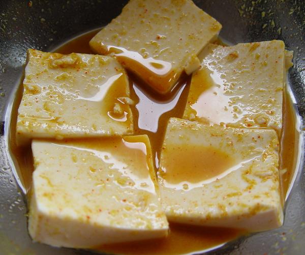 Raspberry Wasabi Tofu