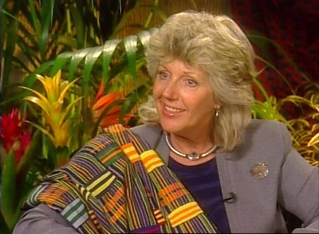 In this image from a video footage taken on 3 May 2000 in New York, the Italian-born author and conservationist Kuki Gallmann speaks during an interview. Gallmann was shot at her Kenya ranch and airlifted for treatment after herders invaded in search of pasture to save their animals from drought, officials said Sunday, 23 April 2017. Photo: AP Photo