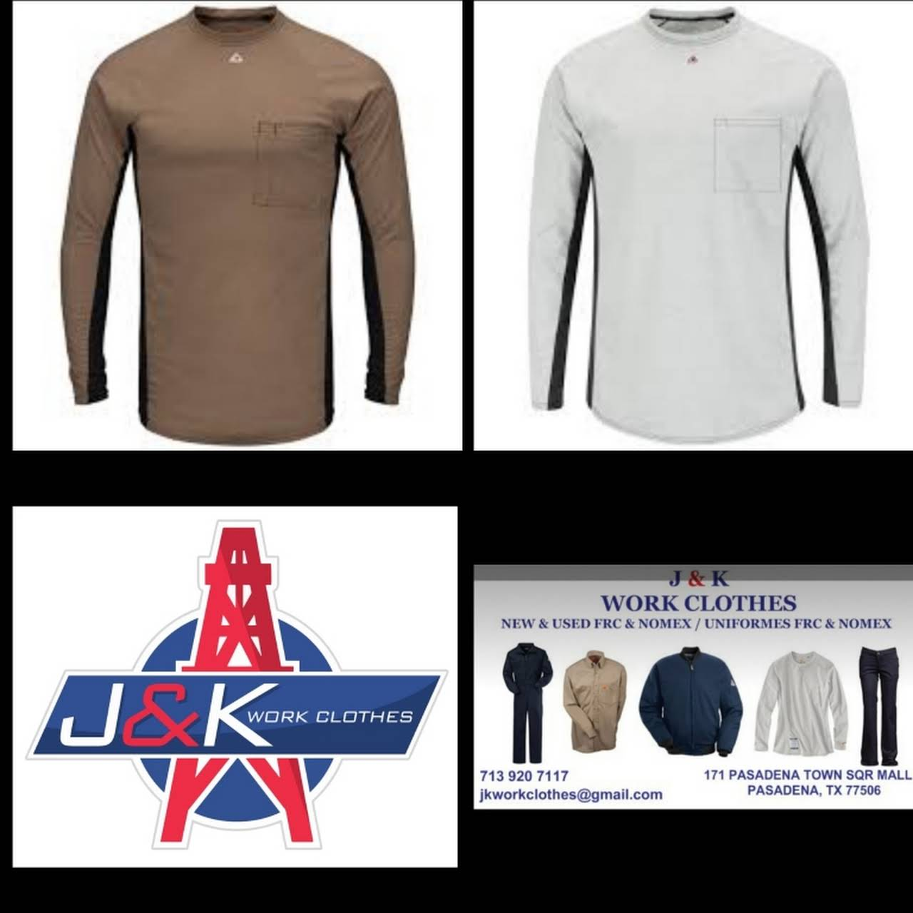 J & K WORK CLOTHES New & Used FRC Uniforms - Uniform Store
