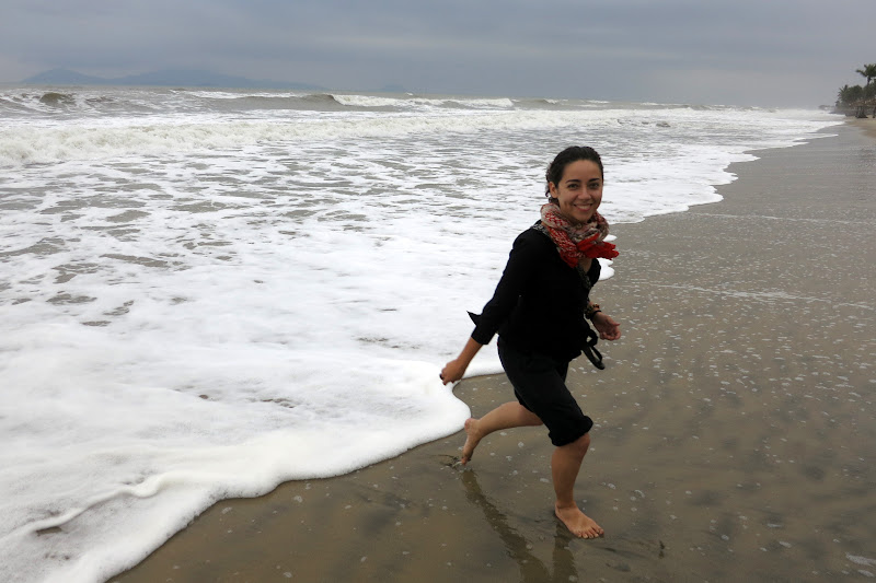 Running from a wave
