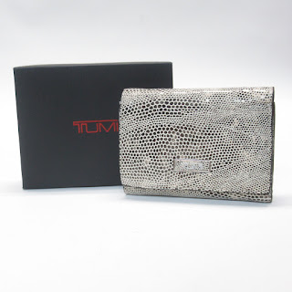 Tumi NEW Embossed Leather Tri-Fold Wallet