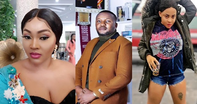 'You are a F00l and a disgrace' – Mercy Aigbe, Temitope Solaja blasts Yomi Fabiyi over 'Oko Iyabo' movie