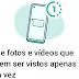 Entretenimento| WhatsApp deixa enviar fotos temporárias com visualização única