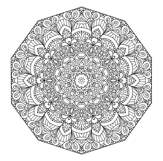 Detailed Coloring Pages For Teenagers  Detailed Abstract Coloring Pages  For Teenagers Four More Mandala