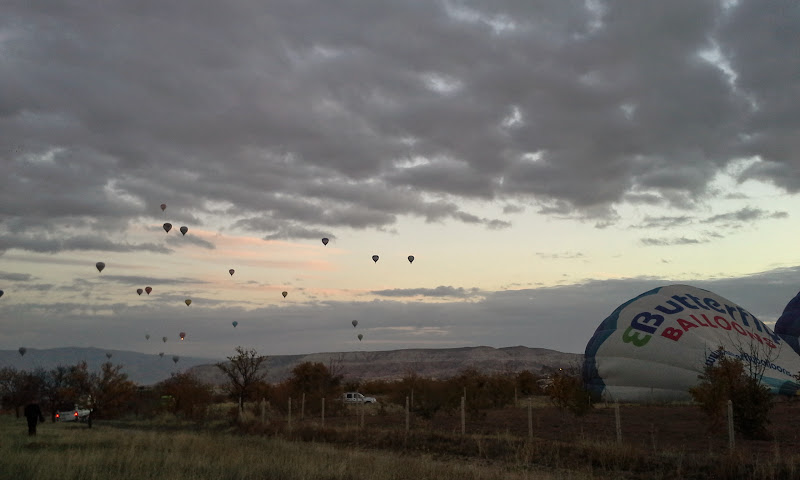 cappadocia hot air balloon inflation