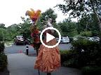 Prom Dress on stilts
