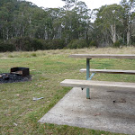 Picnic table and BBQ at Clover Flat rest area