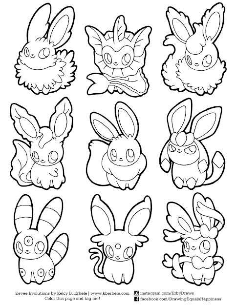 Eeveelution Coloring Page The File Is On My Drawing Happiness Throughout Pokemon  Coloring Pages Eevee Evolutions