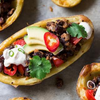 Vegan Mexican Potato Skins