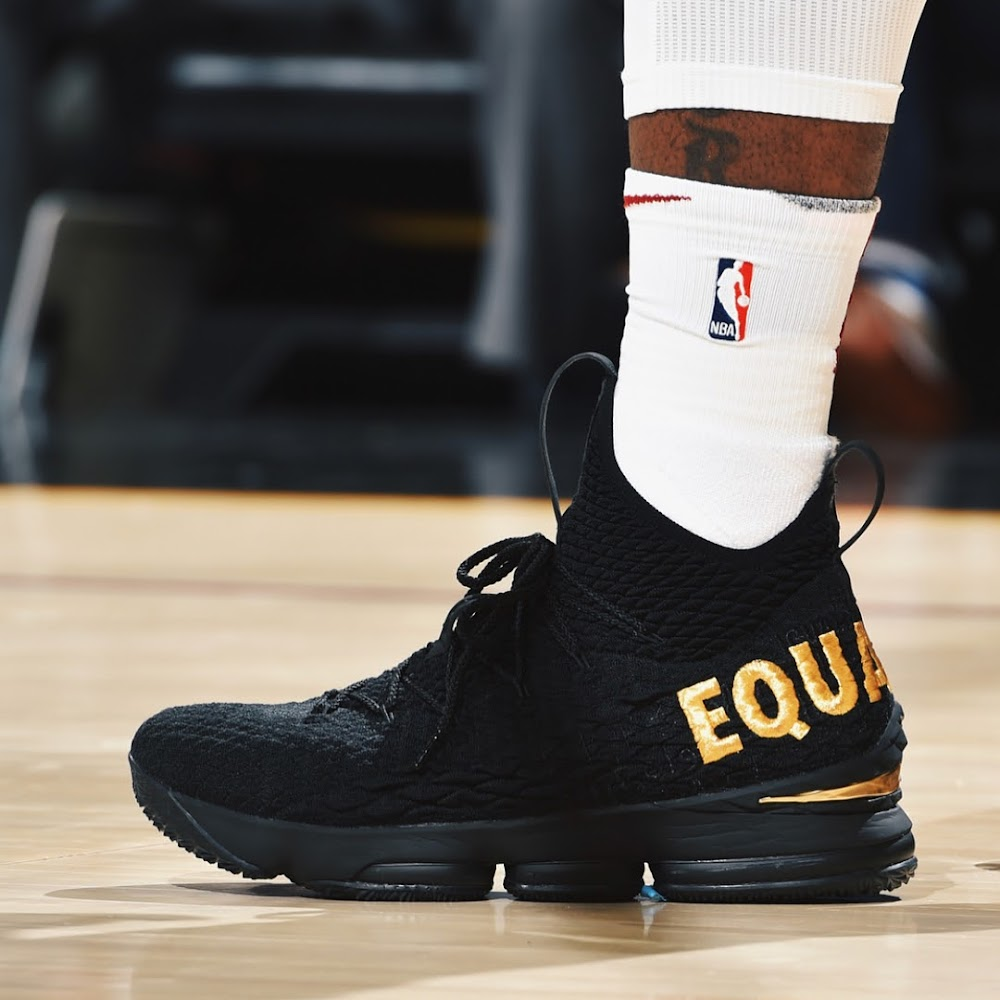 a108239fdea9 ... LeBron James Sends Powerful Message in Nike LeBron 15 ...