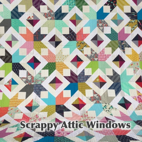Christmas Attic Window Quilt Pattern.Sunny In Cal Scrappy Attic Windows Pattern