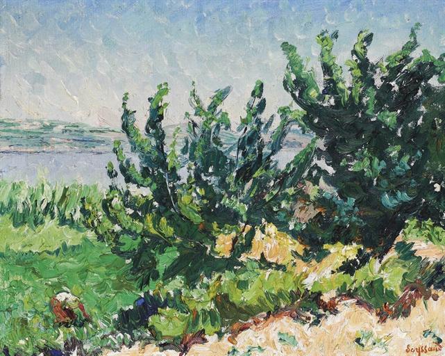 René Seyssaud - Paysage de bord de mer
