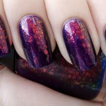 Esmalte com glitter hexagonal