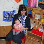 Paulien, zusje van Pieter , op bezoek in K2,5