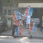Un manège mobile dans les rues de Delhi