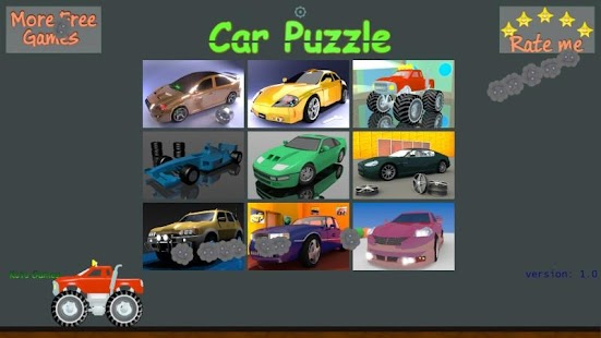 car puzzle game for kids screenshot thumbnail