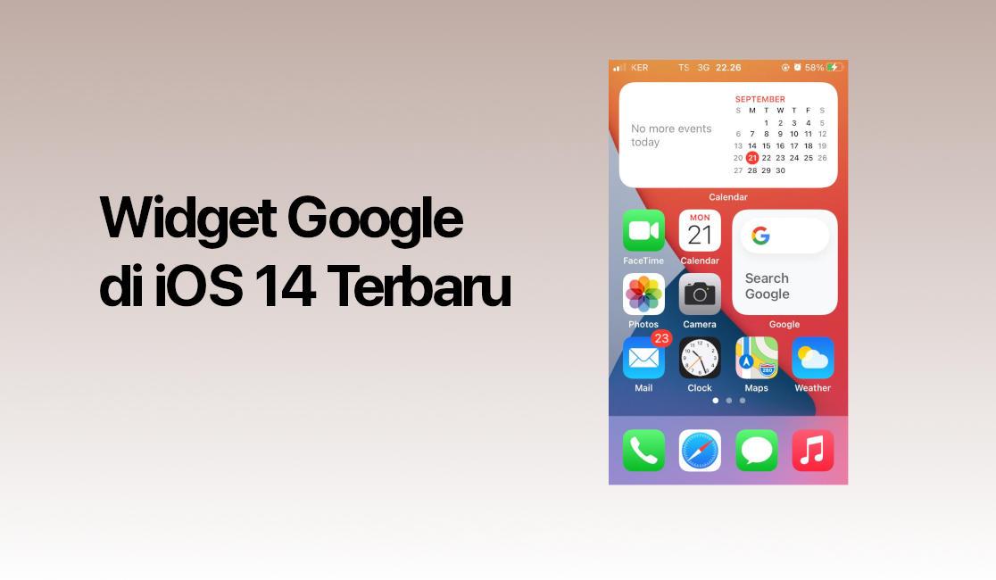 Widget Google Penelusuran Untuk iOS 14