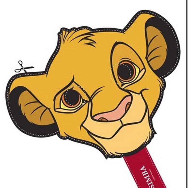 Máscaras personajes Rey León en color