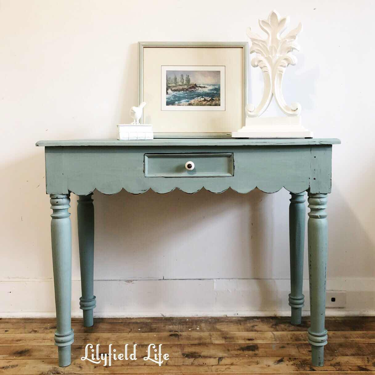 duck egg blue console table Lilyfield life