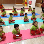 Celebration of International Yoga Day by JR KG - C at Witty World, BN