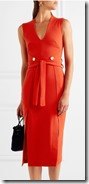 Cut Out Crepe Midi Dress by Rebecca Vallance