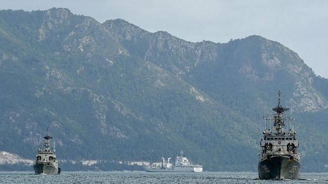KRI Usir Kapal Nelayan China Yang Kembali Terlihat di Natuna