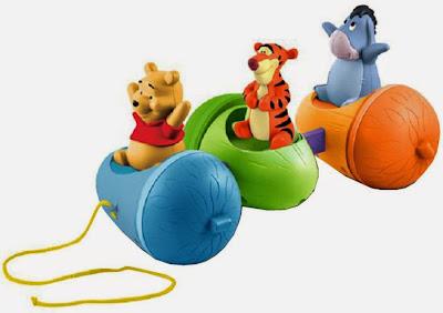 Xe dắt gấu Pooh và những người bạn với thiết kế và khoang ngồi dành riêng cho từng bạn