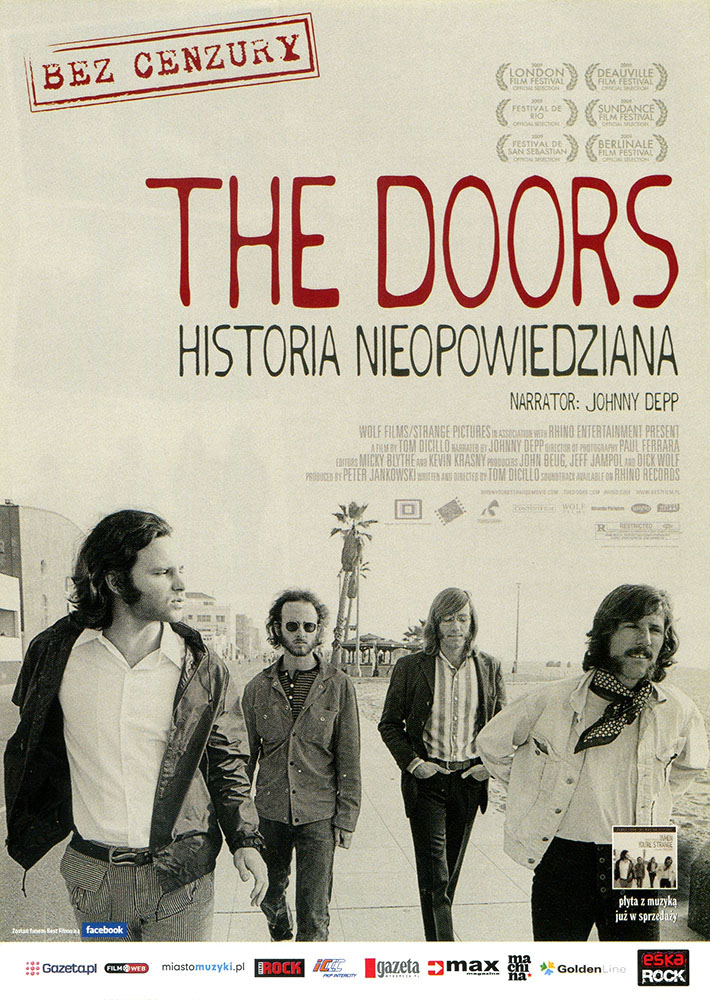 Ulotka filmu 'The Doors - Historia Nieopowiedziana (przód)'