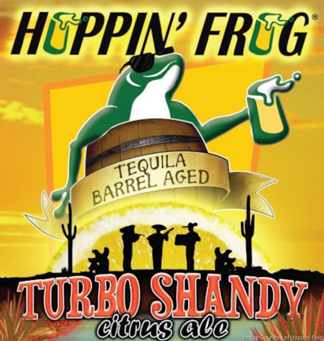 Hoppin' Frog Tequila Barrel-Aged Turbo Shandy Citrus Ale Coming 3/1