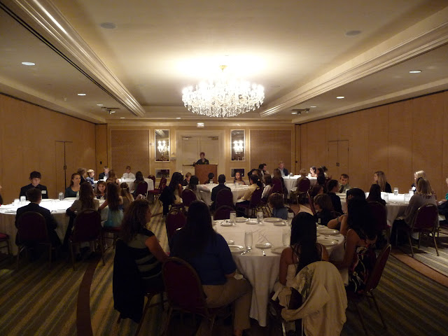 Students Learn Proper Etiquette prior to Hall of Fame Dinner and Reception