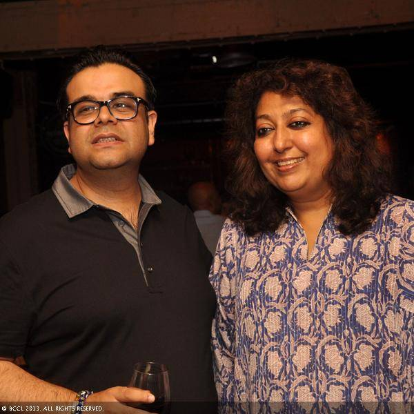 Saif Habibullah and Madhu Jain during Vani Tripathi's birthday bash, held in Delhi.