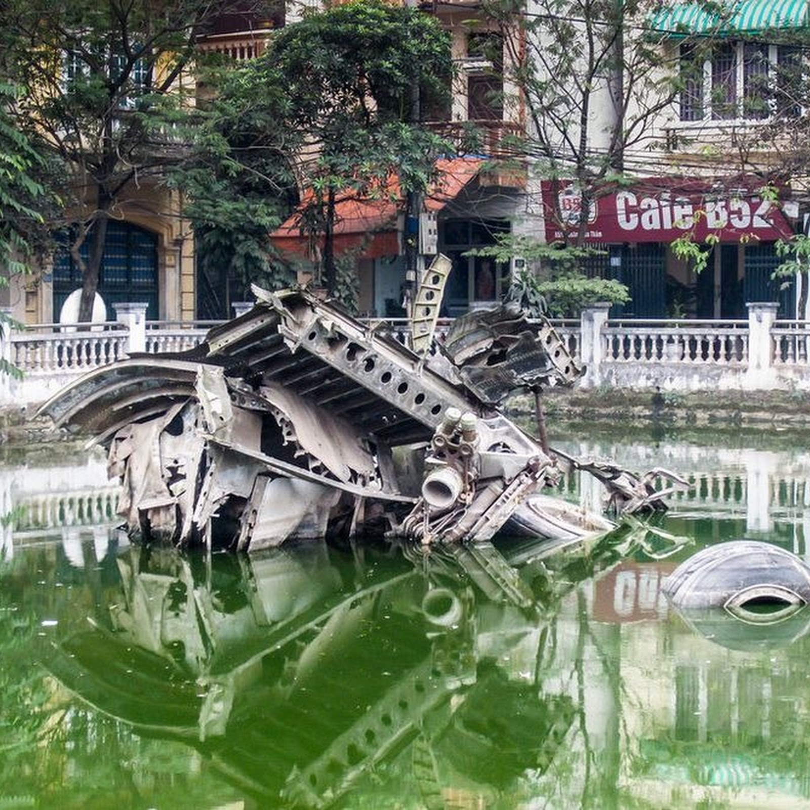 The Wrecked Bomber of Huu Tiep Lake