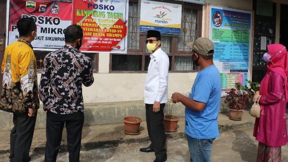 Bersama Ketua DPRD, Bupati Safaruddin Pantau Posko PPKM Nagari