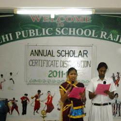2012-04-21 Annual Scholar Certificate Distribution